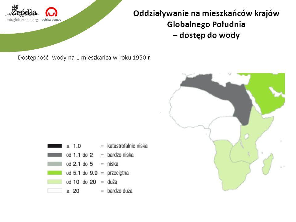 eduglob.zrodla.org Dostępność wody na 1 mieszkańca w roku 1950 r.