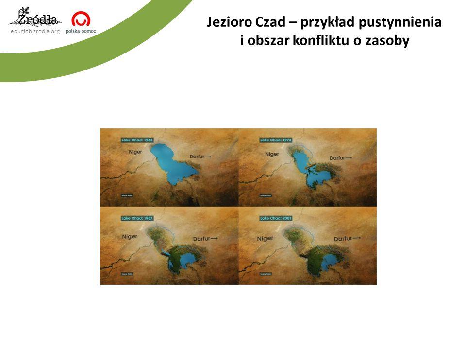 eduglob.zrodla.org Jezioro Czad – przykład pustynnienia i obszar konfliktu o zasoby