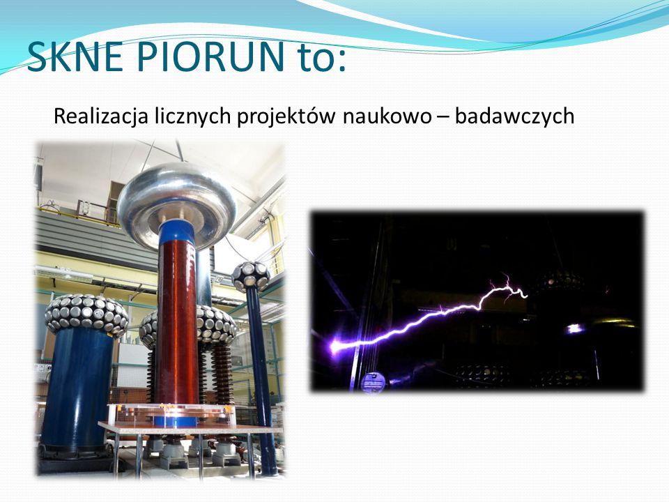 SKNE PIORUN to: Realizacja licznych projektów naukowo – badawczych