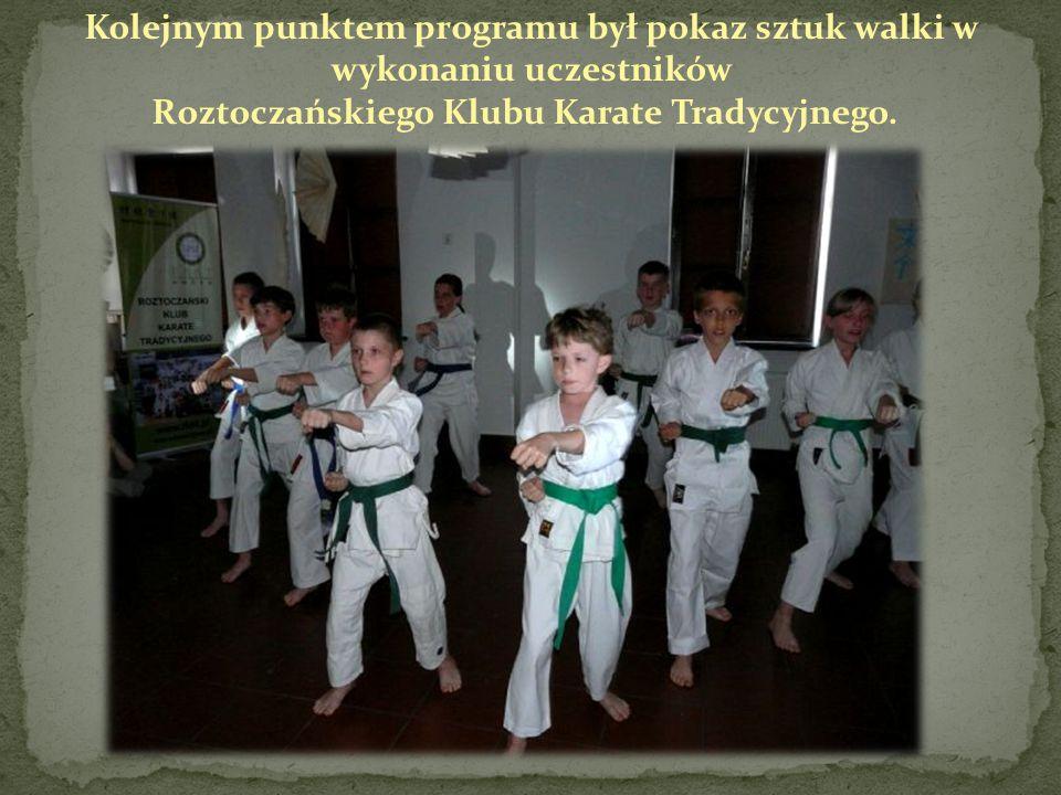 Kolejnym punktem programu był pokaz sztuk walki w wykonaniu uczestników Roztoczańskiego Klubu Karate Tradycyjnego.