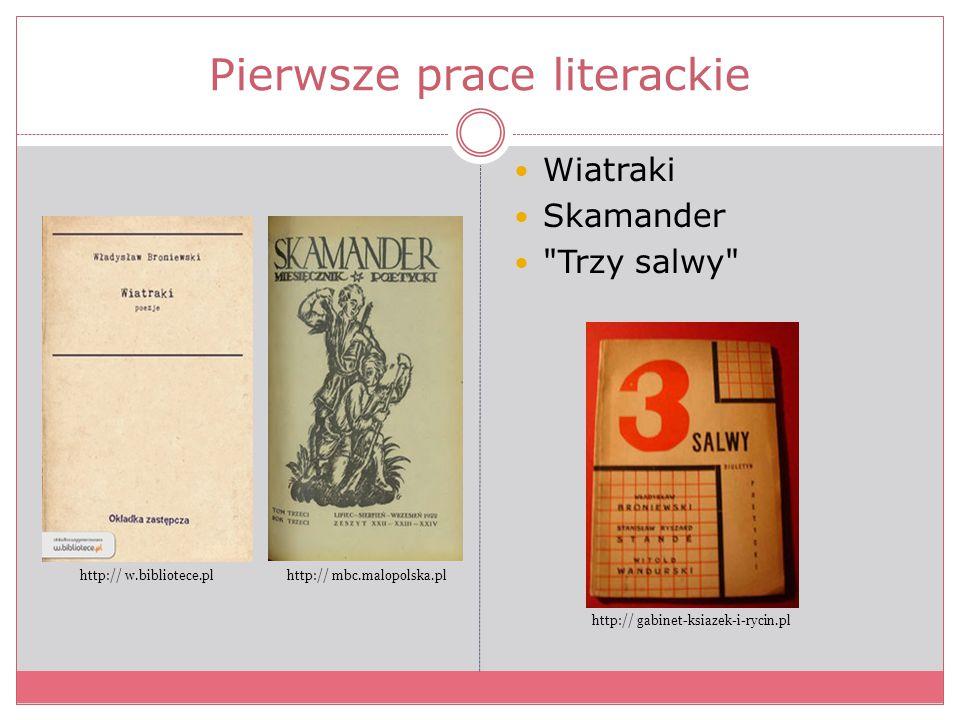 Pierwsze prace literackie Wiatraki Skamander