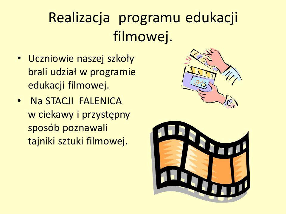 Realizacja programu edukacji filmowej. Uczniowie naszej szkoły brali udział w programie edukacji filmowej. Na STACJI FALENICA w ciekawy i przystępny s