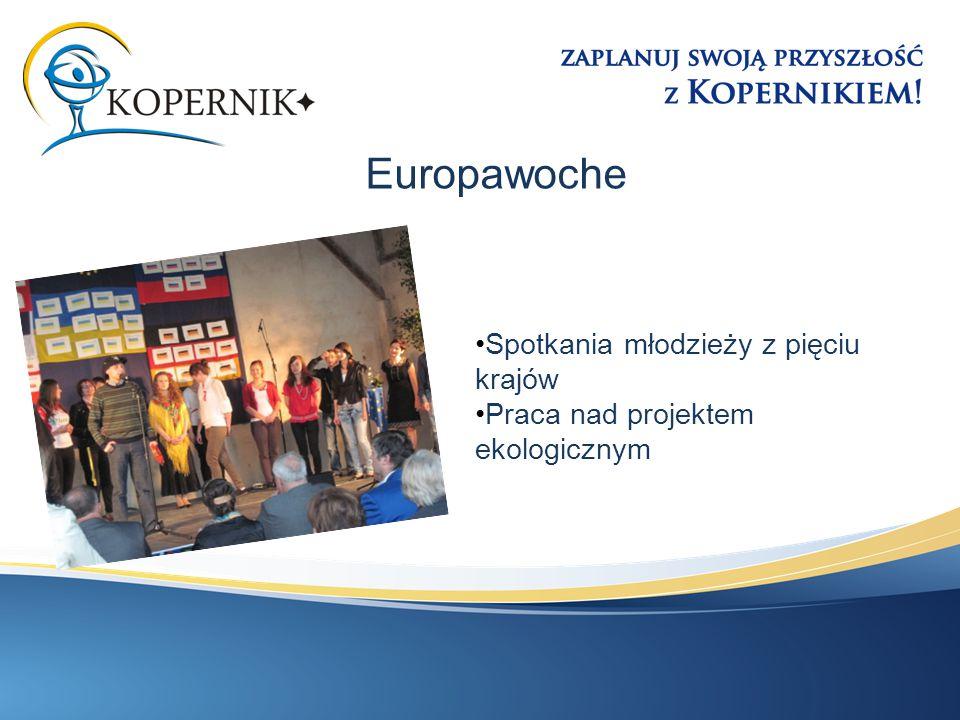 Spotkania młodzieży z pięciu krajów Praca nad projektem ekologicznym Europawoche