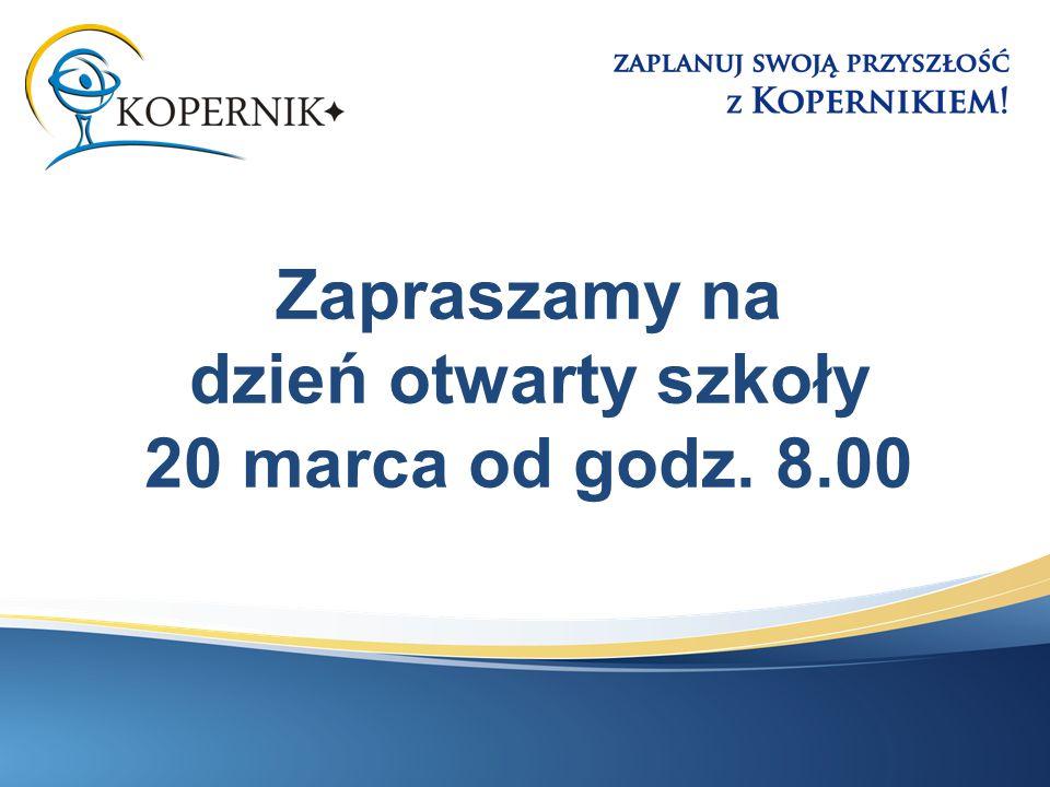 Zapraszamy na dzień otwarty szkoły 20 marca od godz. 8.00