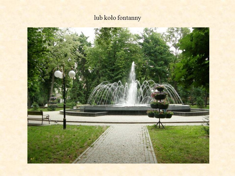 lub koło fontanny