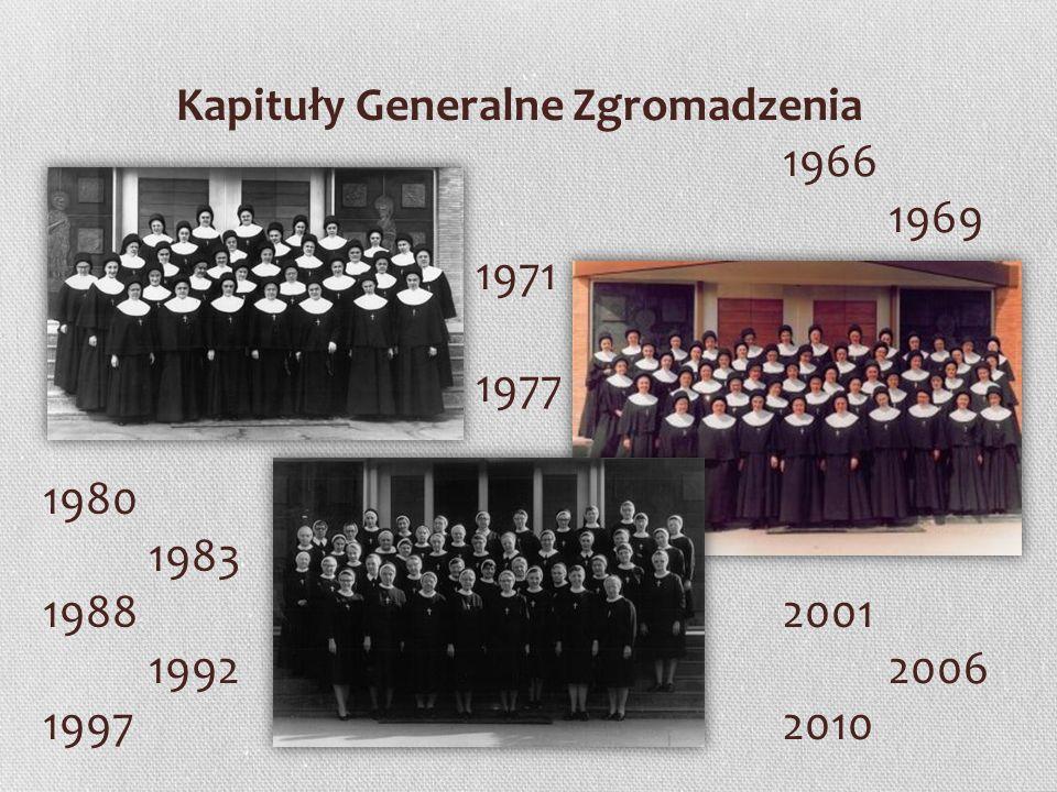 Kapituły Generalne Zgromadzenia 1966 1969 1971 1977 1980 1983 19882001 19922006 19972010