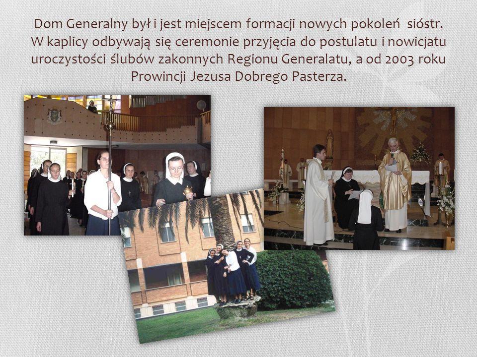 Dom Generalny był i jest miejscem formacji nowych pokoleń sióstr.