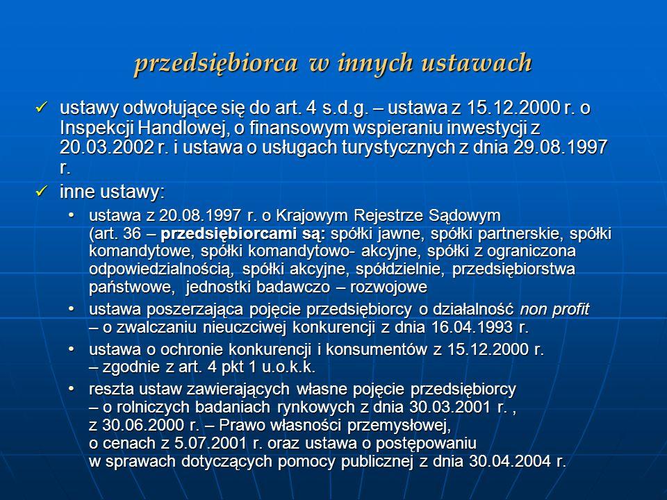 Przedsiębiorstwo w Kodeksie Cywilnym W myśl art.
