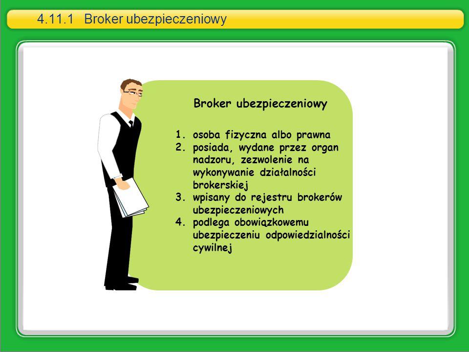1.osoba fizyczna albo prawna 2.posiada, wydane przez organ nadzoru, zezwolenie na wykonywanie działalności brokerskiej 3.wpisany do rejestru brokerów