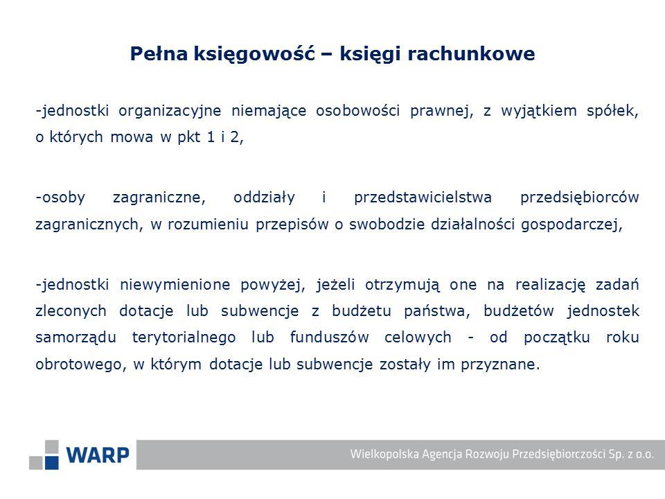 -jednostki organizacyjne niemające osobowości prawnej, z wyjątkiem spółek, o których mowa w pkt 1 i 2, -osoby zagraniczne, oddziały i przedstawicielst