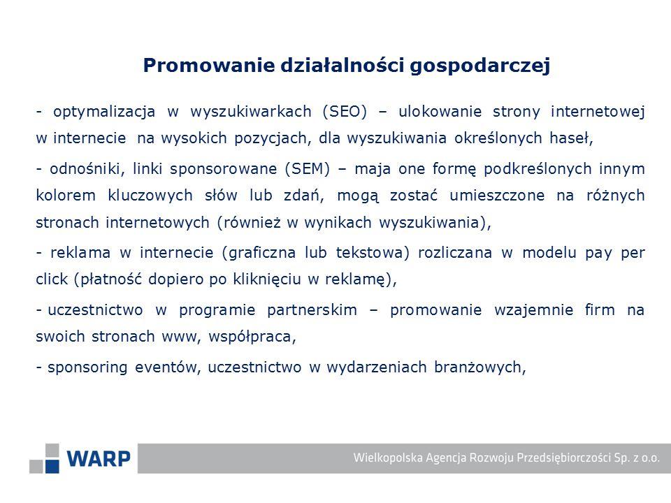 - optymalizacja w wyszukiwarkach (SEO) – ulokowanie strony internetowej w internecie na wysokich pozycjach, dla wyszukiwania określonych haseł, - odno