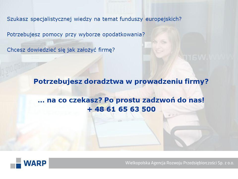 Szukasz specjalistycznej wiedzy na temat funduszy europejskich? Potrzebujesz pomocy przy wyborze opodatkowania? Chcesz dowiedzieć się jak założyć firm