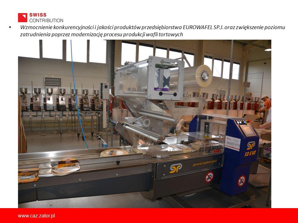 www.caz.zator.pl Wzmocnienie konkurencyjności i jakości produktów przedsiębiorstwa EUROWAFEL SP.J. oraz zwiększenie poziomu zatrudnienia poprzez moder