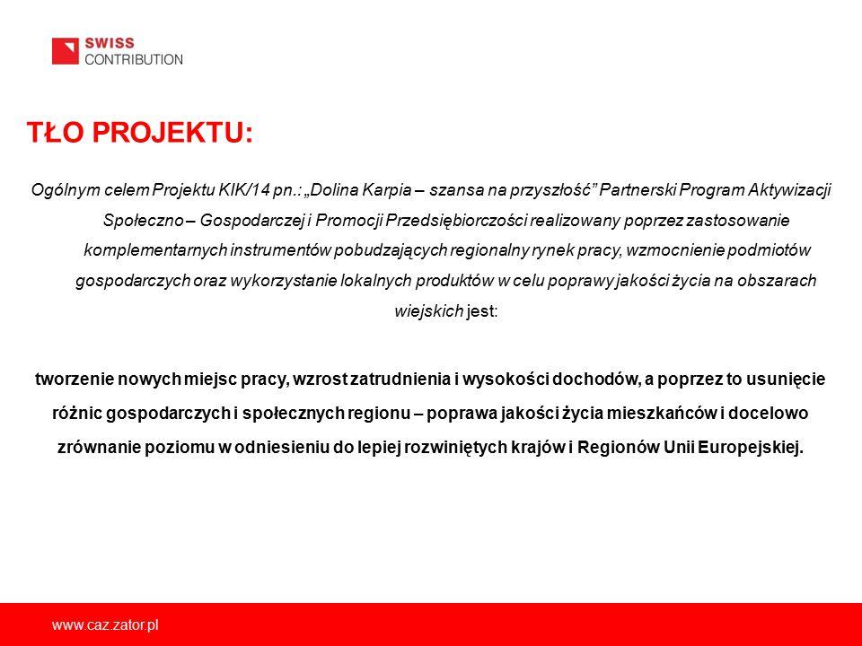 """TŁO PROJEKTU: Ogólnym celem Projektu KIK/14 pn.: """"Dolina Karpia – szansa na przyszłość"""" Partnerski Program Aktywizacji Społeczno – Gospodarczej i Prom"""