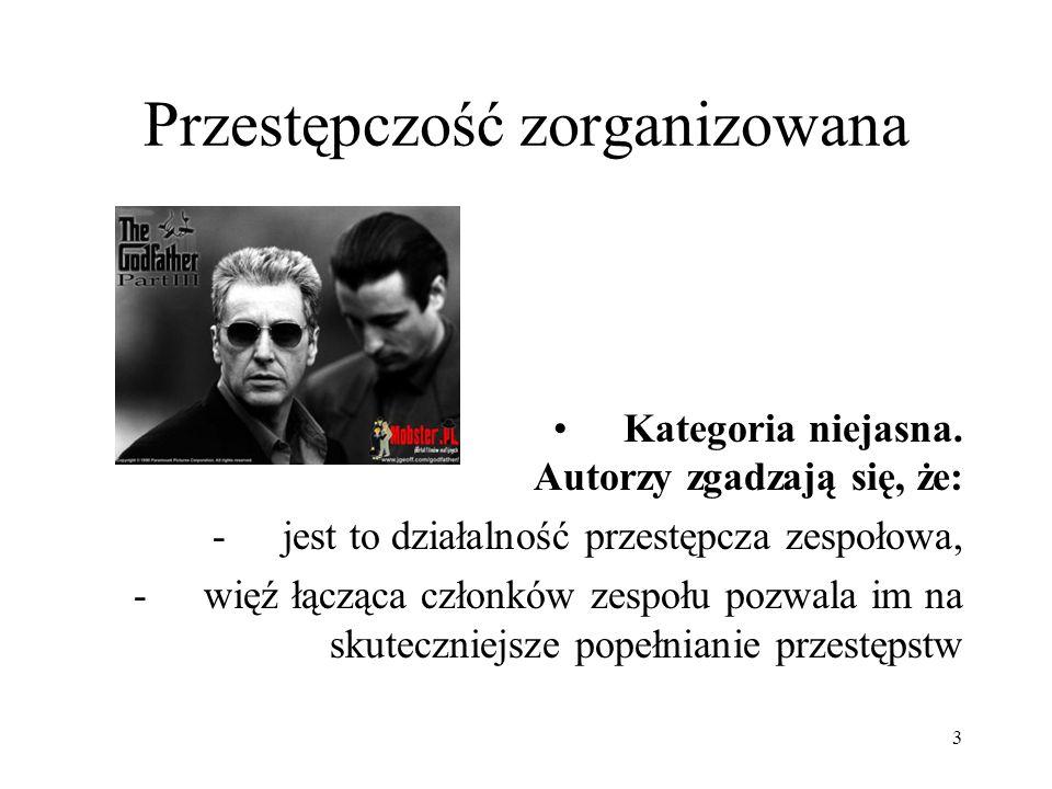Struktura zorganizowanej grupy przestępczej, jej uwarunkowania i determinanty W warunkach polskich strukturę tę określają: 1.Zasięg działania (grupy lokalne: dzielnicowe, obejmujące działaniem całe miasto; regionalne, ogólnokrajowe; międzynarodowe) 2.Skład etniczny (grupy np.