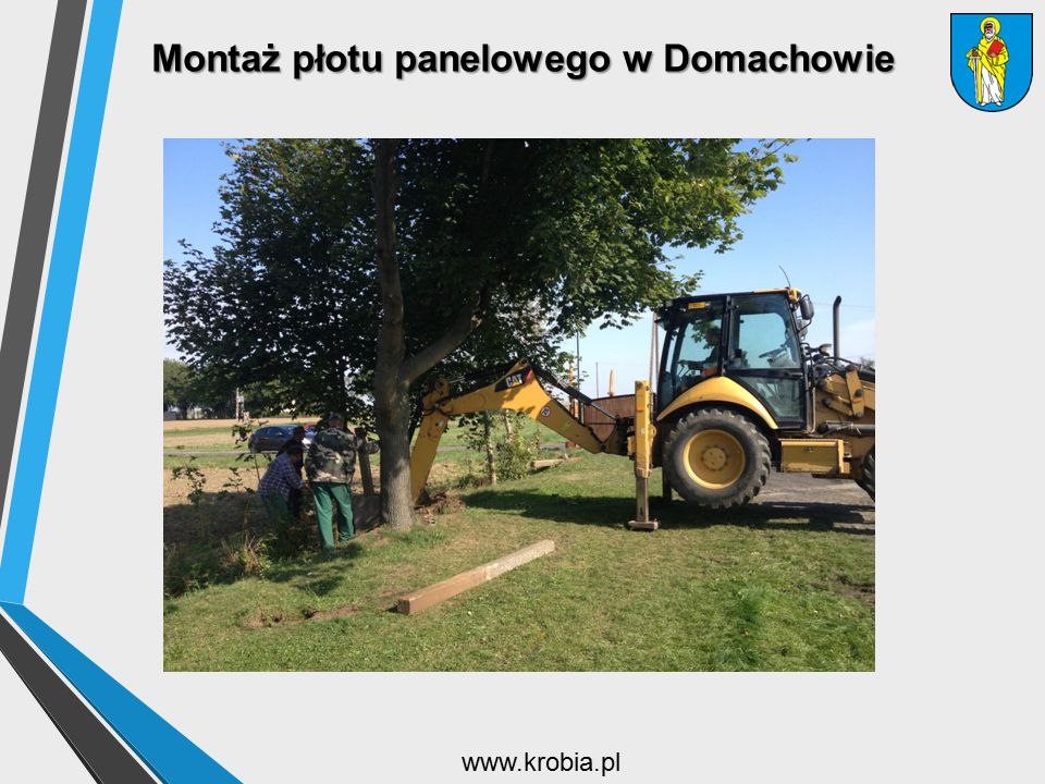 Montaż płotu panelowego w Domachowie www.krobia.pl
