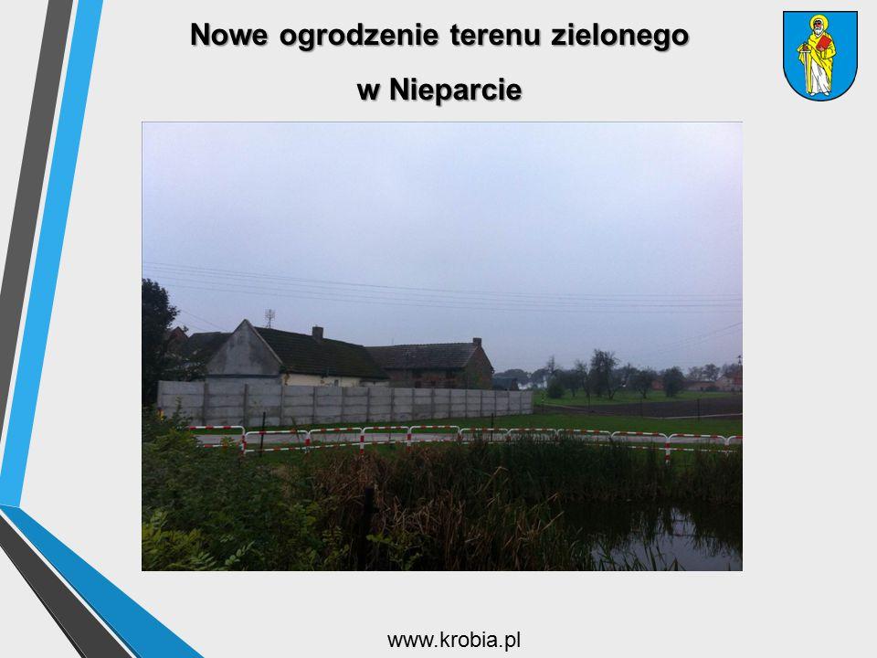 Nowe ogrodzenie terenu zielonego w Nieparcie www.krobia.pl