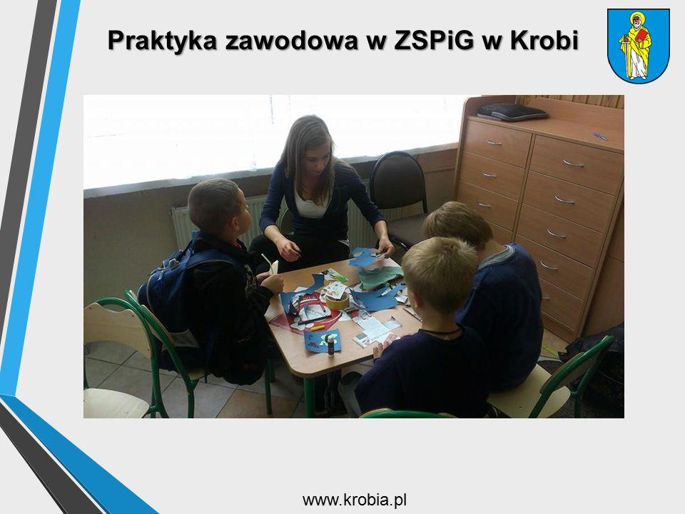 Praktyka zawodowa w ZSPiG w Krobi www.krobia.pl