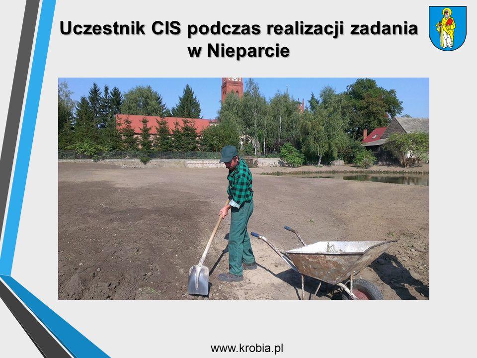 Uczestnik CIS podczas realizacji zadania w Nieparcie www.krobia.pl