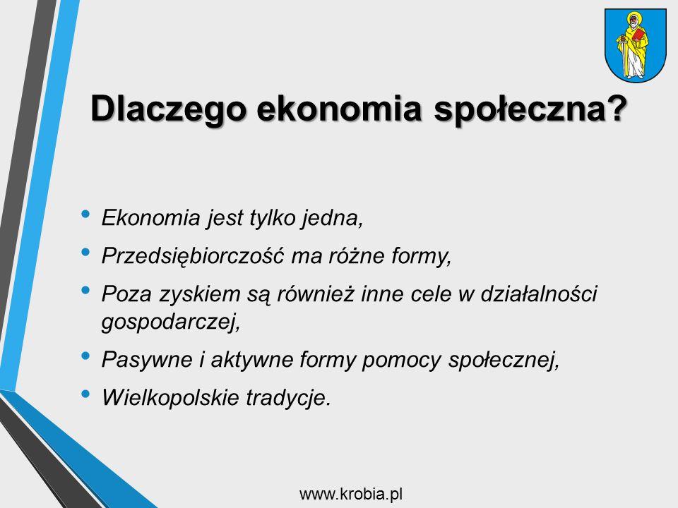 Dlaczego ekonomia społeczna? Ekonomia jest tylko jedna, Przedsiębiorczość ma różne formy, Poza zyskiem są również inne cele w działalności gospodarcze