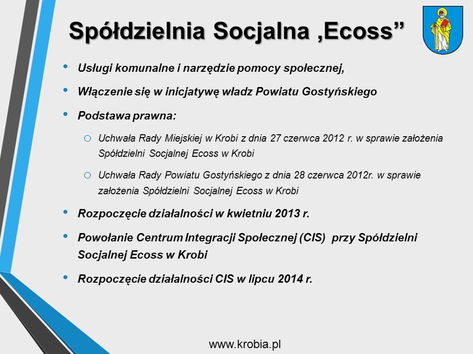 """SpółdzielniaSocjalna 'Ecoss"""" Spółdzielnia Socjalna 'Ecoss"""" Usługi komunalne i narzędzie pomocy społecznej, Włączenie się w inicjatywę władz Powiatu Go"""