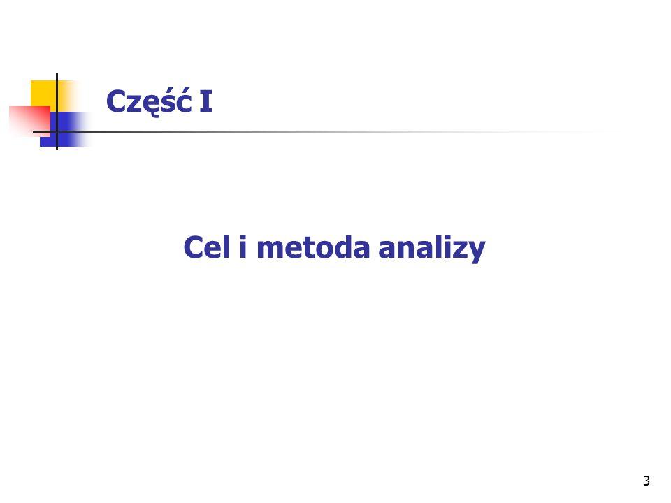 3 Część I Cel i metoda analizy