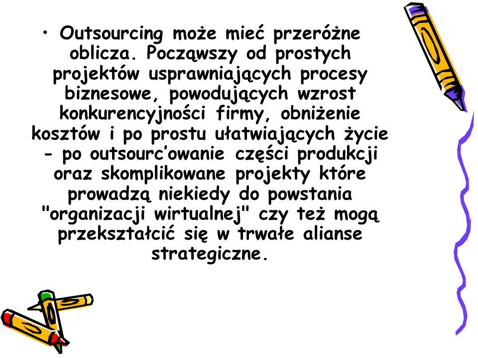 Outsourcing może mieć przeróżne oblicza.