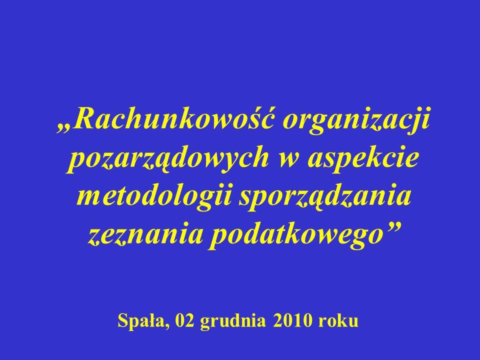 Przychody Składki członkowskie ogólnokrajowe Składki członkowskie okręgowe...