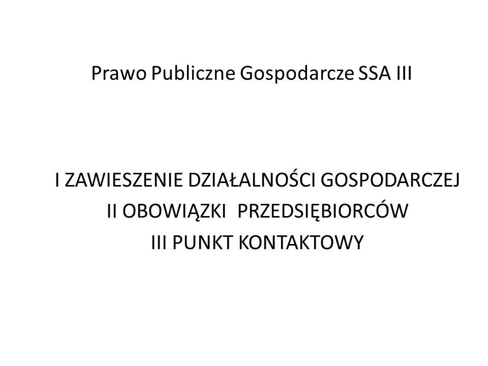 Zawieszenie wykonywania działalności gospodarczej Art.