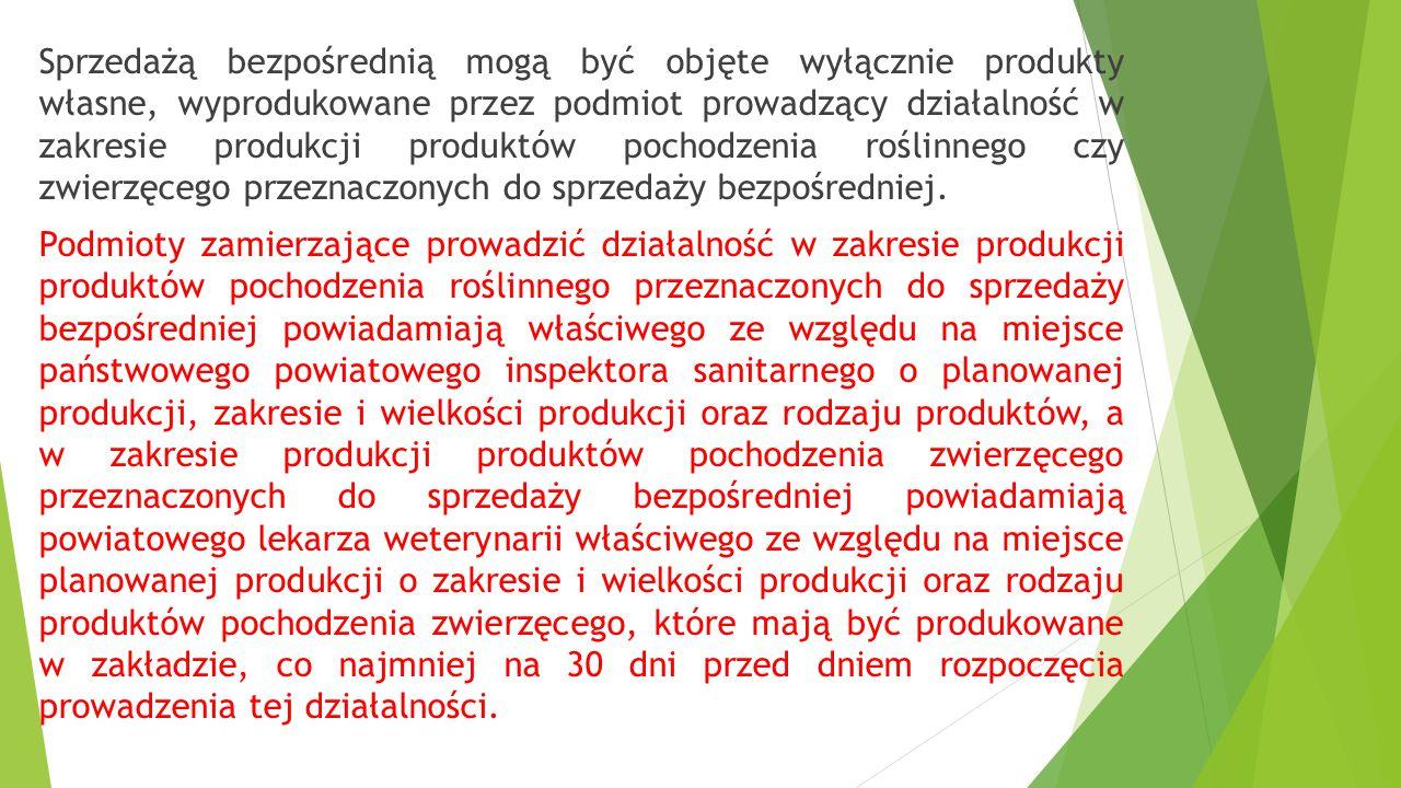 Produkty pszczele nieprzetworzone:  miód, pyłek pszczeli, pierzga, mleczko pszczele, pozyskanych z pasiek będących w posiadaniu producenta:  sprzeda