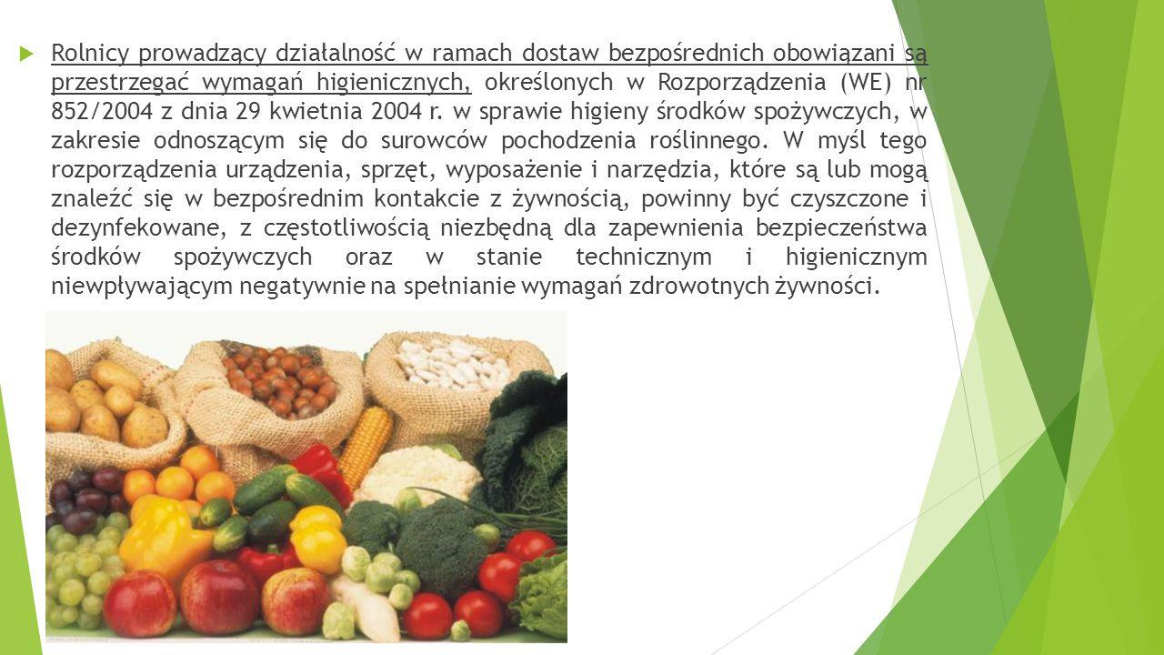  Dostawy bezpośrednie środków spożywczych mogą być realizowane bezpośrednio przez producentów produkcji pierwotnej, którzy dostarczają małe ilości śr