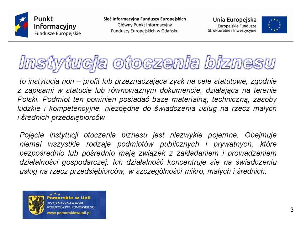 3 to instytucja non – profit lub przeznaczająca zysk na cele statutowe, zgodnie z zapisami w statucie lub równoważnym dokumencie, działająca na terenie Polski.
