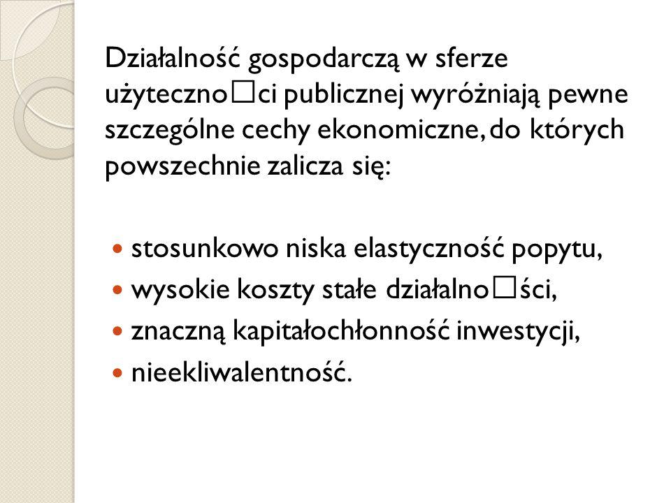 podstawową formą wykonywania gospodarki komunalnej jest samorządowy zakład budżetowy, forma właściwa wyłącznie realizacji zadań własnych (aktywności w sferze użyteczności publicznej) gmin, powiatów i województw (co wynika z art.