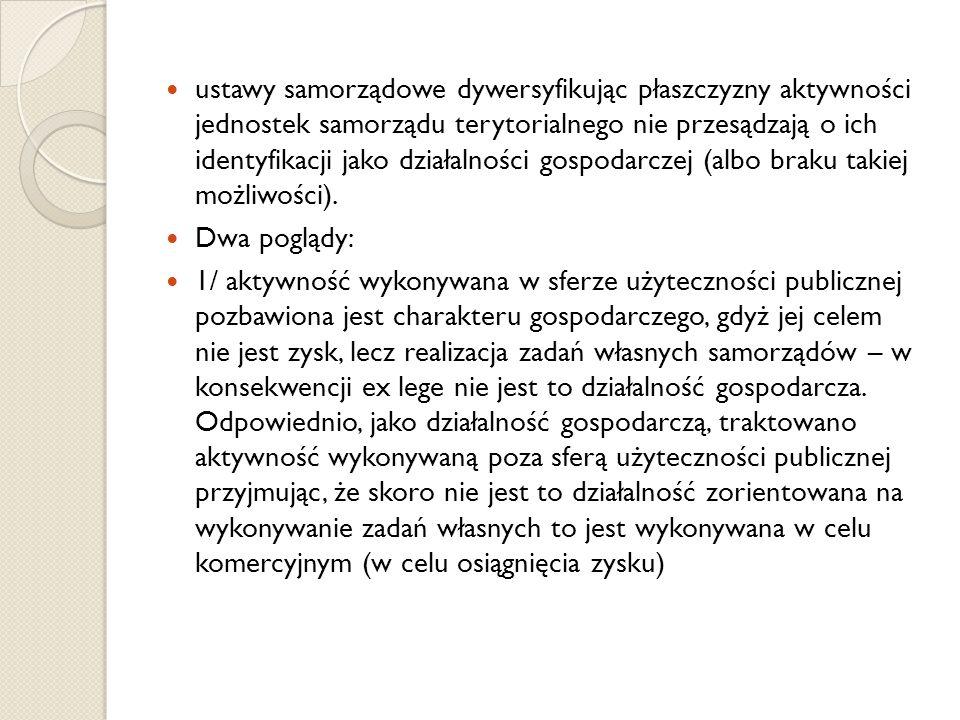 Spółka akcyjna a komunalna osoba prawna Wyrok Naczelnego Sądu Administracyjnego z dnia 11 października 1994 r.