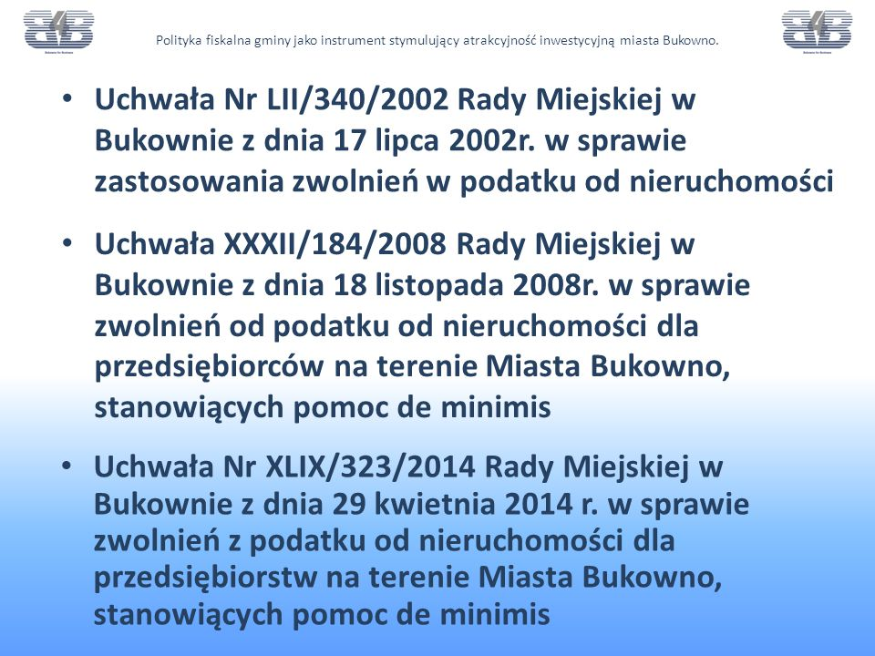 Uchwała XXXII/184/2008 Rady Miejskiej w Bukownie z dnia 18 listopada 2008r.