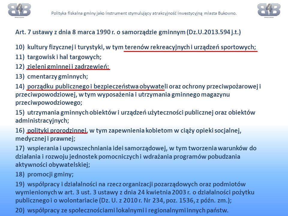 Dochody własne gminy.art. 3 i 4 ustawy z dnia 13 listopada 2003 r.