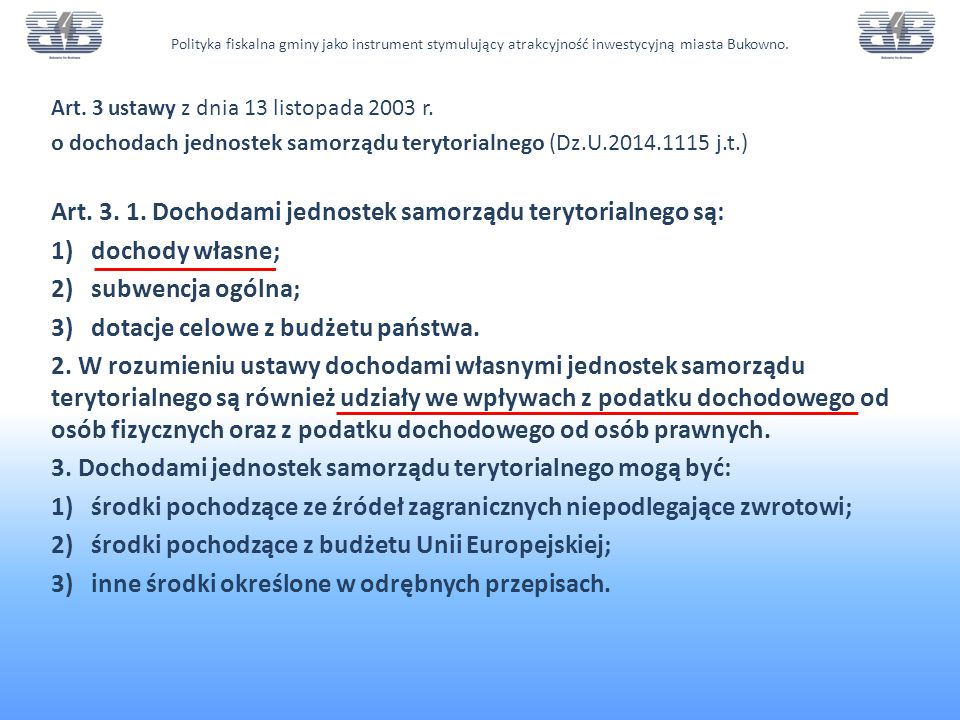 Art.3 ustawy z dnia 13 listopada 2003 r.
