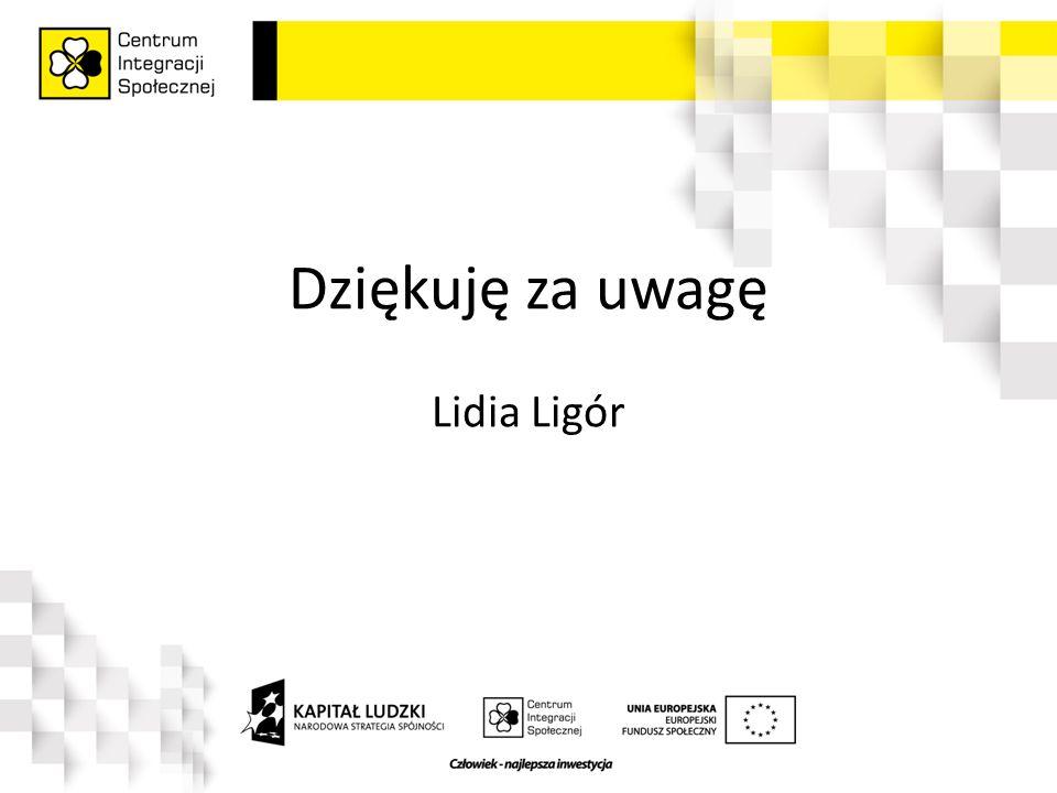 Dziękuję za uwagę Lidia Ligór