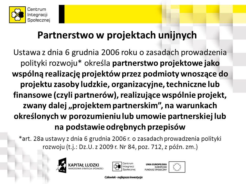 Partnerstwo – efekt końcowy Partnerstwo w ramach projektu jest kolejnym krokiem w stronę budowania szeroko pojętej lokalnej współpracy międzysektorowej, gdzie szczególną rolę odgrywają pracodawcy, a zwłaszcza sektor MŚP.