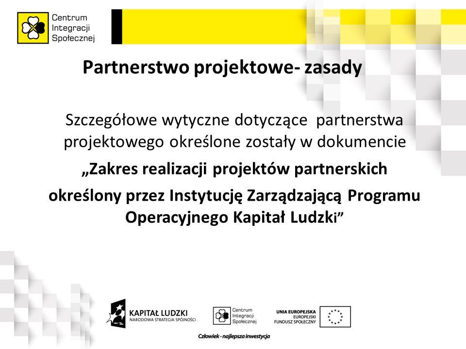 """Partnerstwo w projekcie """"W drodze do pracy Zgodnie z unijnymi wytycznymi, Centrum Integracji Społecznej (Lider projektu) ogłosiło otwarty nabór na partnerów do projektu """"W drodze do pracy w ramach Priorytetu VII PO KL Promocja integracji społecznej, Poddziałanie 7.2.1 Aktywizacja zawodowa i społeczna osób zagrożonych wykluczeniem społecznym"""