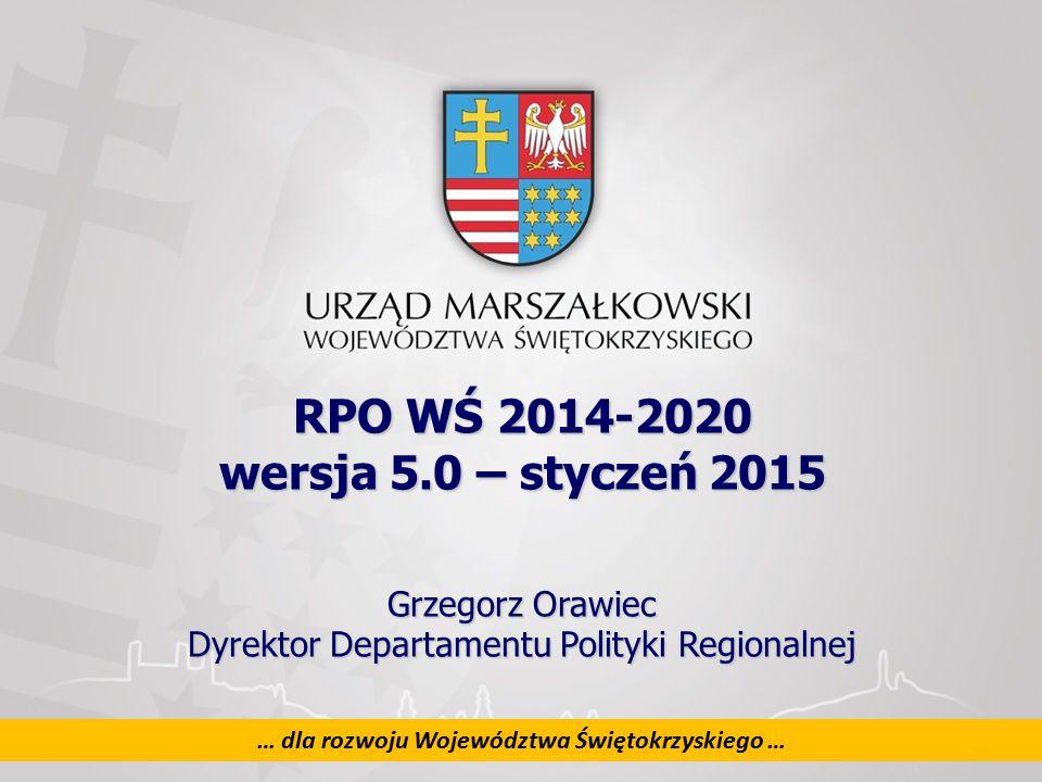 2 … dla rozwoju Województwa Świętokrzyskiego … 2 EFRR UKŁAD RPOWŚ 2014 - 2020 11 JEDNOFUNDUSZOWYCH OSI PRIORYTETOWYCH OŚ 1.