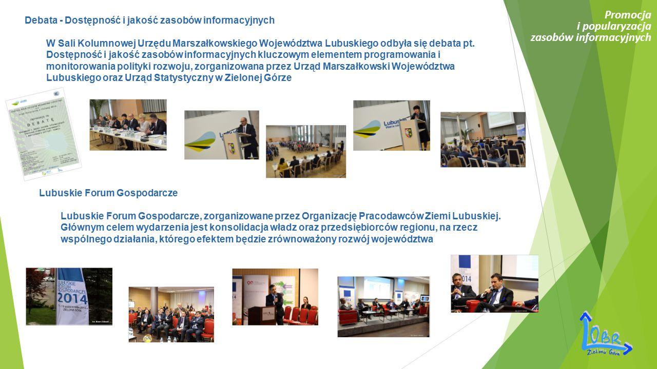 Debata - Dostępność i jakość zasobów informacyjnych W Sali Kolumnowej Urzędu Marszałkowskiego Województwa Lubuskiego odbyła się debata pt. Dostępność