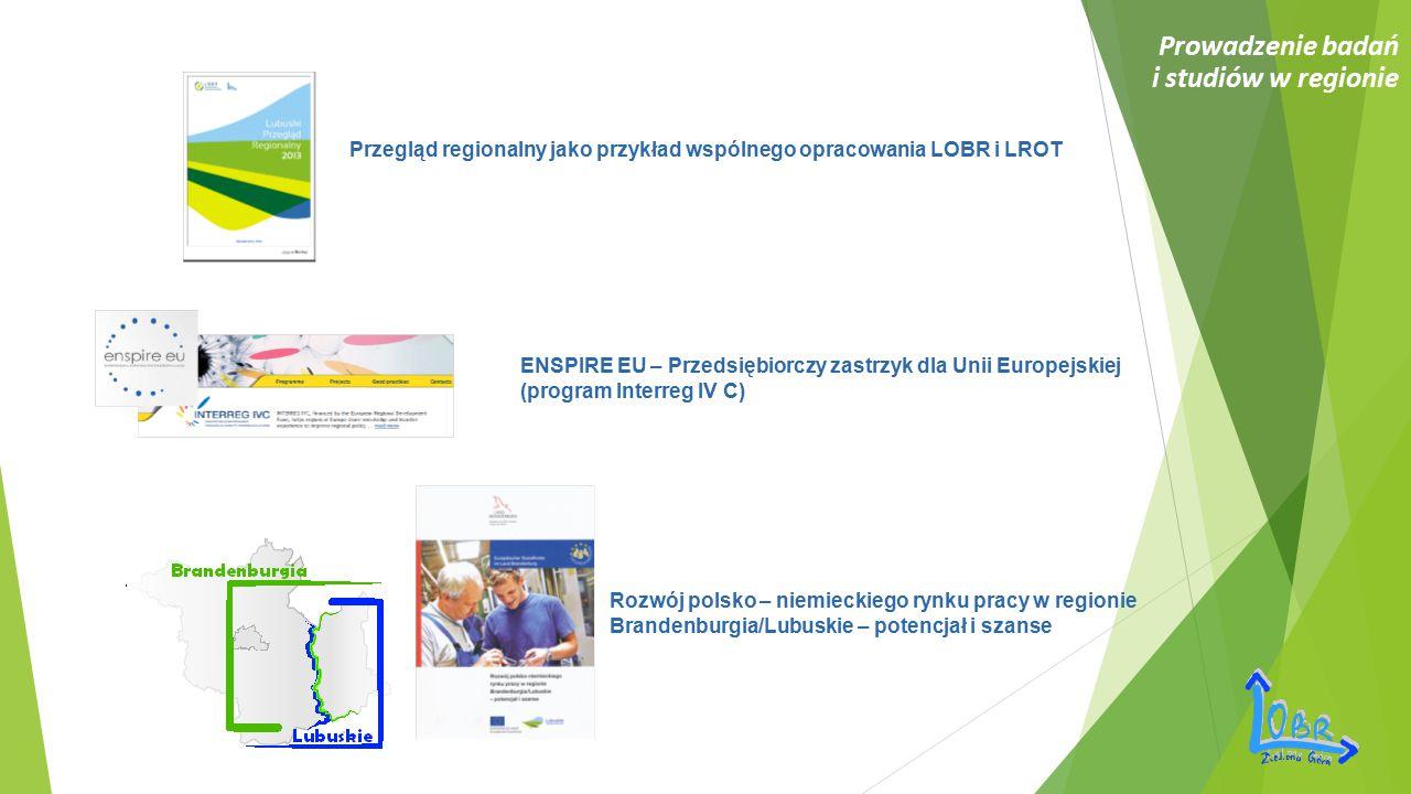 Prowadzenie badań i studiów w regionie Przegląd regionalny jako przykład wspólnego opracowania LOBR i LROT ENSPIRE EU – Przedsiębiorczy zastrzyk dla U