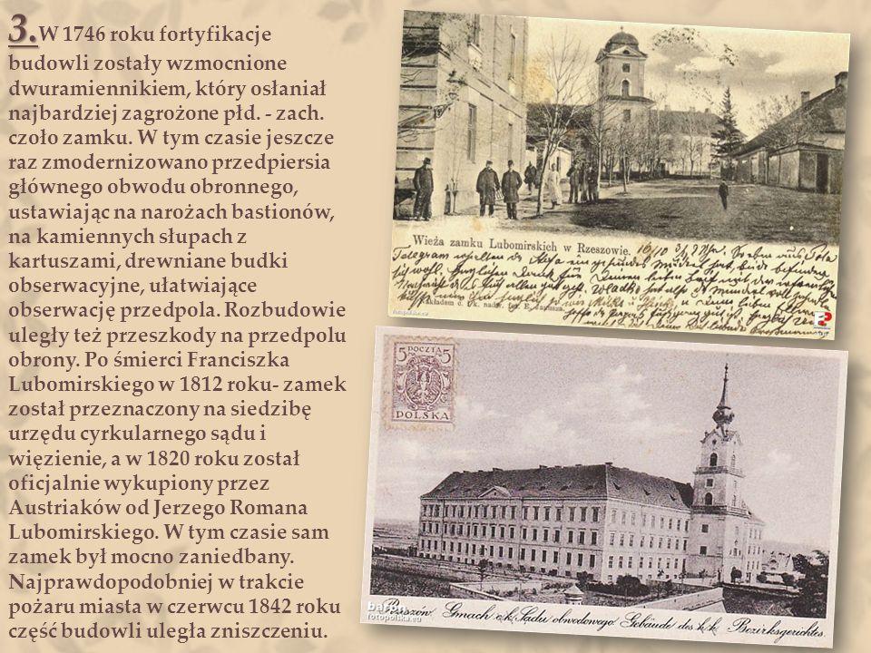 2. 2. Po śmierci Ligęzy w 1637 r., właścicielką całej fortuny, wraz z zamkiem w Rzeszowie, została młodsza córka Ligęzy i jej mąż Jerzy Sebastian Lubo