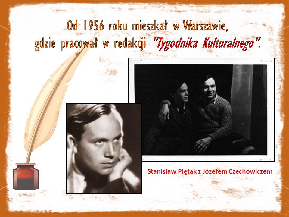 Stanisław Piętak z Józefem Czechowiczem