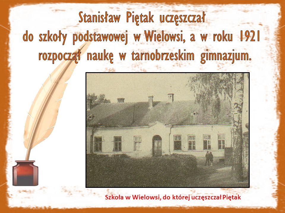 Szkoła w Wielowsi, do której uczęszczał Piętak