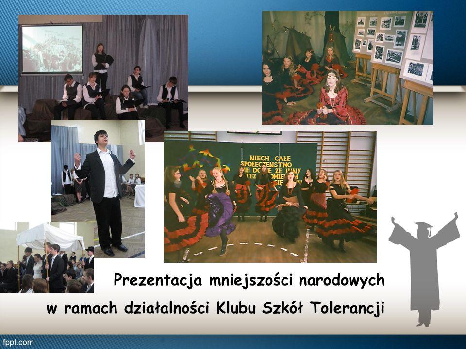 Prezentacja mniejszości narodowych w ramach działalności Klubu Szkół Tolerancji
