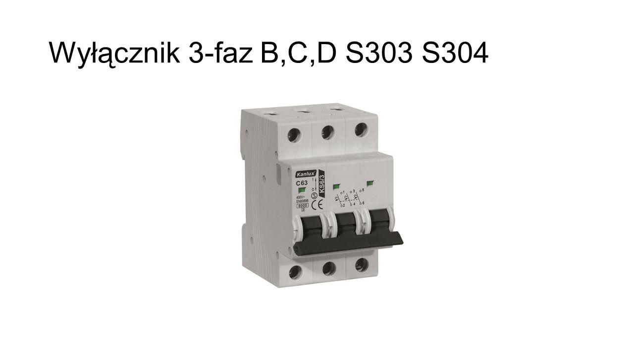 Wyłącznik 3-faz B,C,D S303 S304