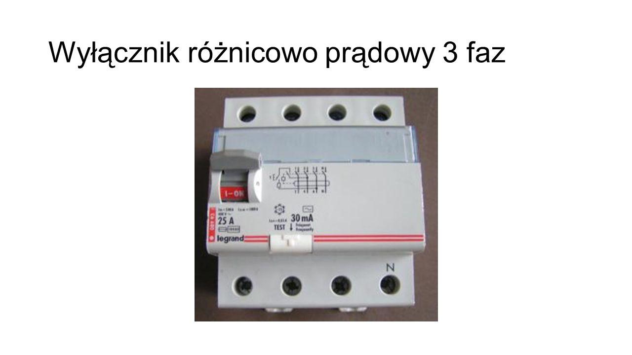 Wyłącznik różnicowo prądowy 3 faz