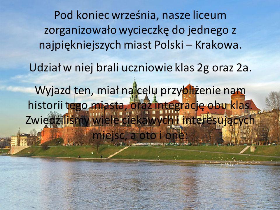 Pod koniec września, nasze liceum zorganizowało wycieczkę do jednego z najpiękniejszych miast Polski – Krakowa. Udział w niej brali uczniowie klas 2g